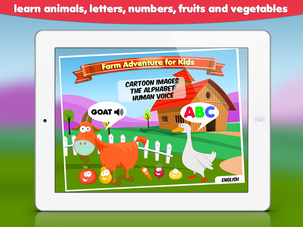 farm adventure learn letters and animals
